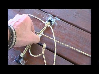 How to make a paracord  bracelet easy step by step instructions.wmv