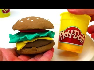 How to make a Play-Doh burger - unboxingsurpriseegg