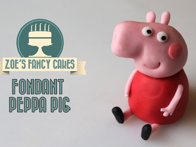 How to make Peppa Pig in fondant cake topper How To Tutorial Zoes Fancy Cakes