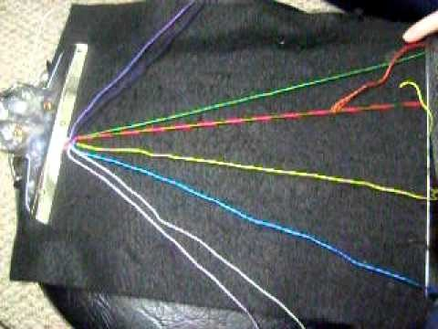 How To Make The Zig Zagging Rainbow Friendship Bracelet (BEGINNER)