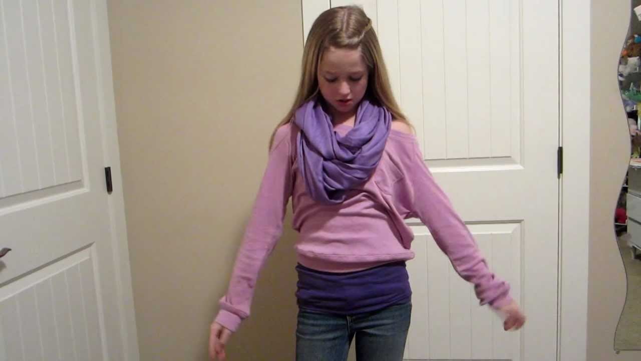 How To Turn A Regular Scarf Into A Hoop Scarf