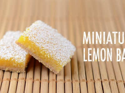 LEMON BARS: polymer clay tutorial