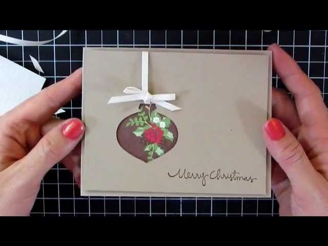 Mass Producing Christmas Cards #3 Ornament Punch with Catherine Pooler