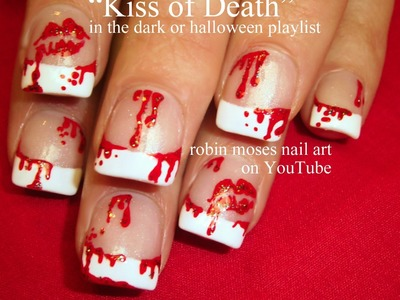 Nail Art Tutorial | My Bloody Valentine Nails | Anti - Love Nail Art Design