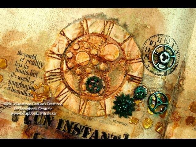 """OTF: journal d'artiste """"un instant unique"""" art journaling"""