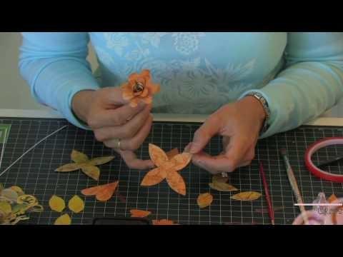 Paper Flower Corsage (Step 3)- Using Tim Holtz Distress Ink