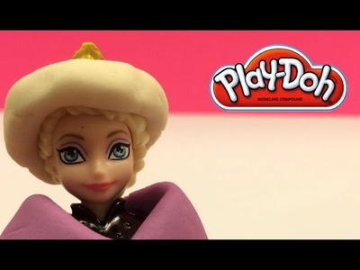 Play Doh Disney Frozen Elsa the Snow Queen (Anna's sister) gets a nice dress trim out of play doh