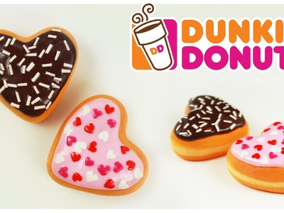 Polymer clay heart Dunkin' Donuts TUTORIAL