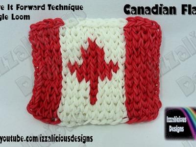 "Rainbow Loom ""Move It Forward"" Technique - Mini Mural - Canadian Flag"