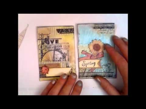 Tutorial Part 1 of 4 - a fun way to decorate glassine bags.envelopes for your mini albums