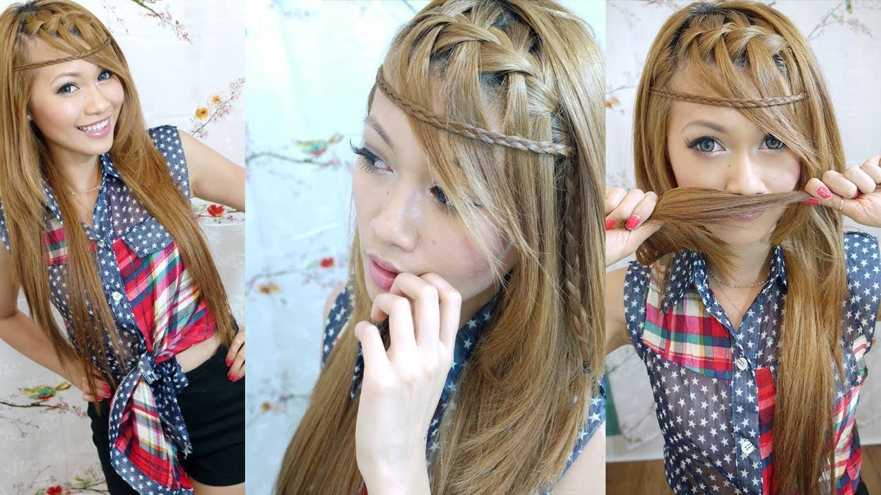 Bohemian Waterfall Bangs Braid