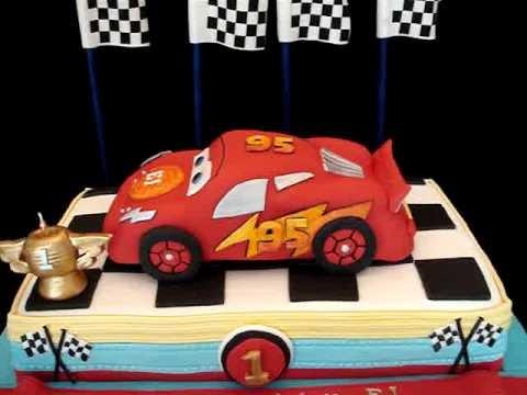 Cars Themed Fondant Cake- my third version