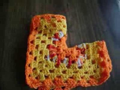 Crochet hexagon jacket-  FOLDING THE HEXAGON