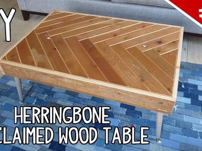DIY Herringbone Reclaimed Wood Table - Part 2 of 2