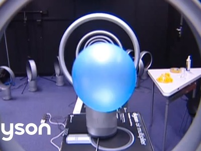 Dyson Air Multiplier fans and a balloon - Official Dyson video