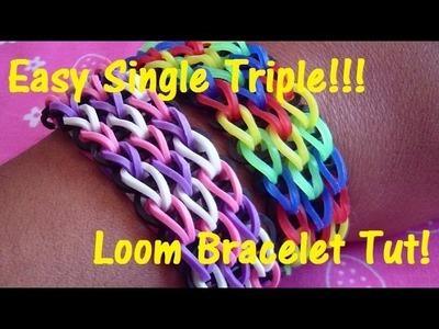 Easy Triple Single Loom Bracelet Tutorial (Step-by-Step)!