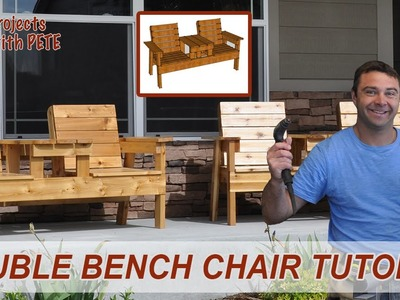 Free Patio Furniture Plans - How to Build a Double Chair Bench with Table - Episode 4