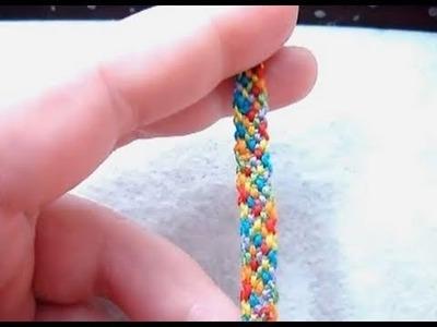 ► Friendship Bracelet Tutorial - Beginner - The Rag Rug (Easy Pattern)