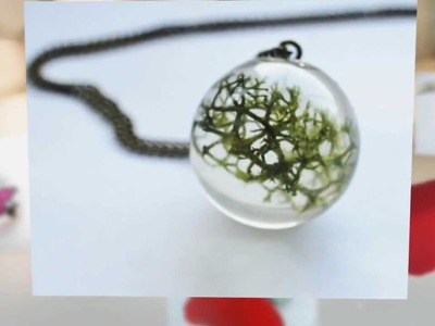 Handmade Resin Jewelry with Real Flowers and Plants
