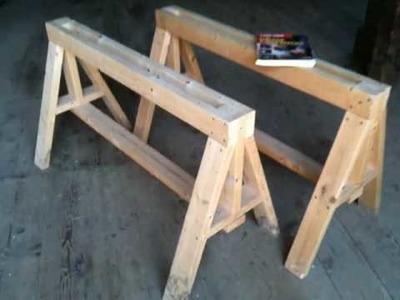 Heavy Duty Sawhorses - Easy to build