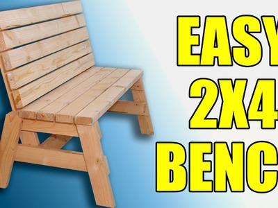 How To Build A Comfortable 2x4 Garden Bench - 104
