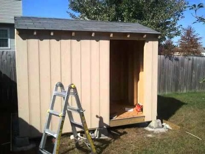 How to Build a Shed - Part 5, Shed Front Side