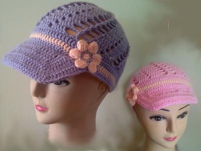 How to crochet a hat peak - free crochet pattern tutorial