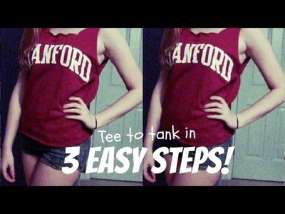 How to: Cut a T-Shirt into a Tank Top in 3 Easy Steps! | DIY