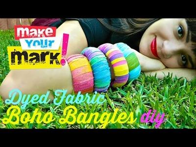 How to: Dyed Fabric Boho Bangles