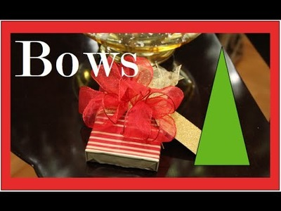How To make a BOW - Step by Step - Christmas Present