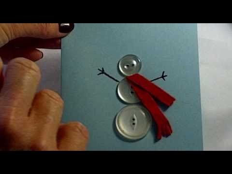 How to Make a Christmas Card Using Buttons Day 39