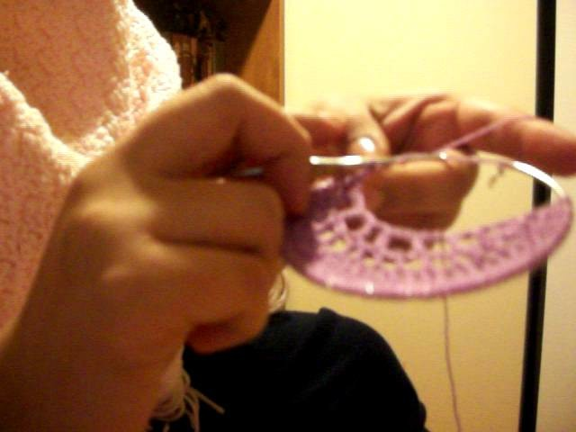 How to make a crochet earring pt4