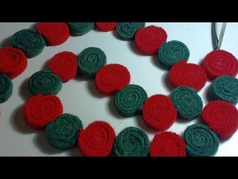 How to Make a Felt Garland from Felted Sweaters Day 36