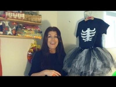 How to Make a Girls Tutu Skeleton Costume, Day 21