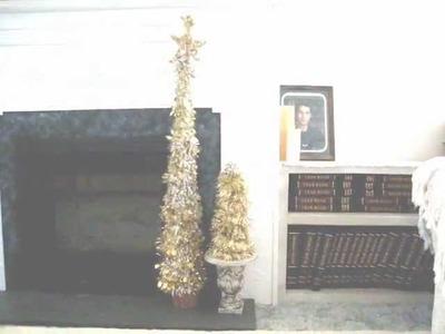 How to MAKE A GLITZY GOLD CHRISTMAS TREE