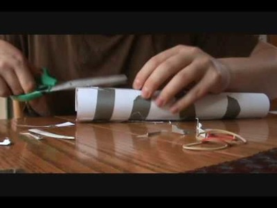 How to make a paper gun that shoots without blowing (bazooka)