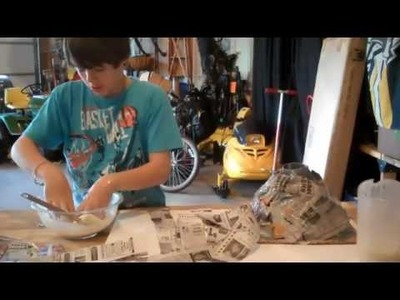 How to Make and Erupt a Paper Mache Volcano