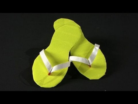 How to Make Duct Tape Flip Flops