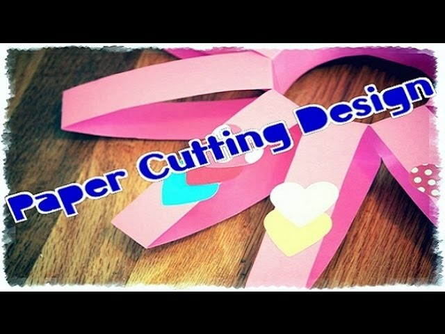 How to | Make of Paper Danglers | Paper Cutting Design