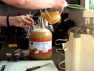 How to make organic hard cider in about 5 minutes