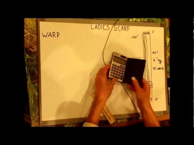 How to Weave on a Loom - Video 4 - Calculating yarn for weaving