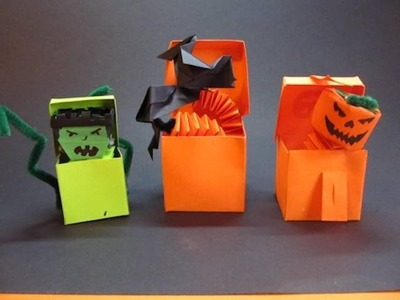 Make a Paper Jack-in-the-Box for Halloween