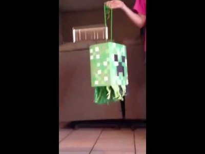 Mine craft creeper piñata