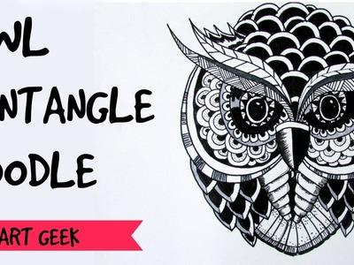 Owl Zentangle Doodle (time-lapse)
