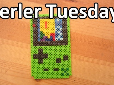 PERLER BEAD: Gameboy w. Tetris! (Giveaway #71) Tutorial & How To