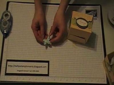 Stampin' Up! Tutorial~Scalloped Envelope Box
