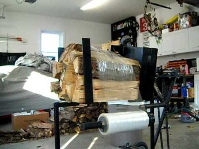 The Best Homemade firewood wrapper, In action