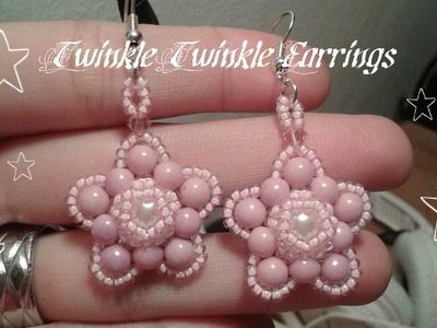 Twinkle Twinkle Earrings Beading Tutorial by HoneyBeads1