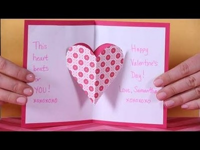 Valentine's Day Heart Pop-up Card