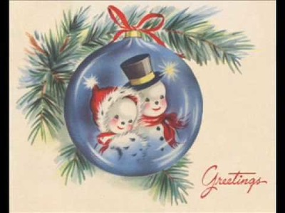 Vintage Greeting Card Images Snowmen Vol 1